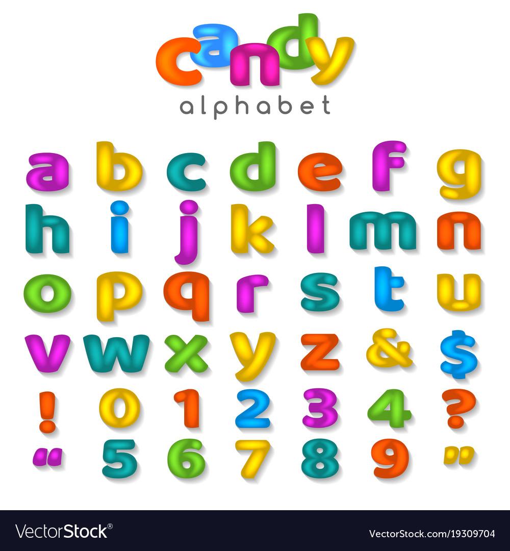 Candy color alphabet