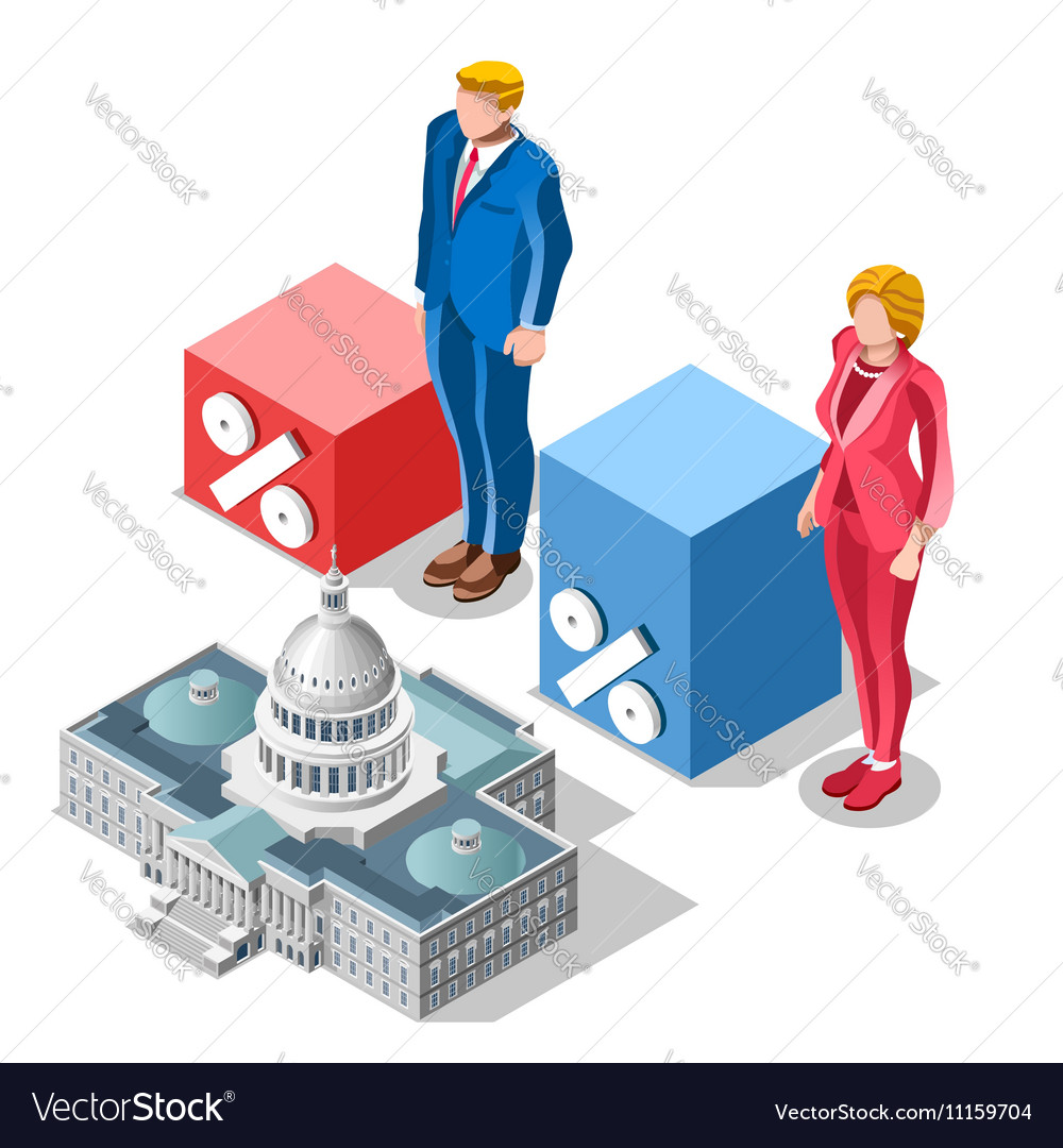 Election Infographic Pools Congress Isometric
