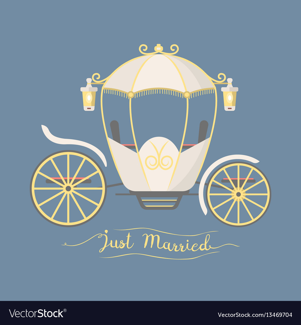 Fairy tale vintage carriage decoration royal