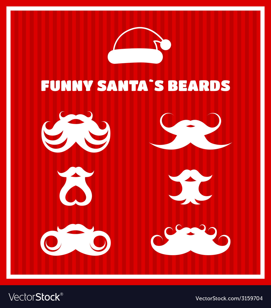 Funny beards of Santa Claus