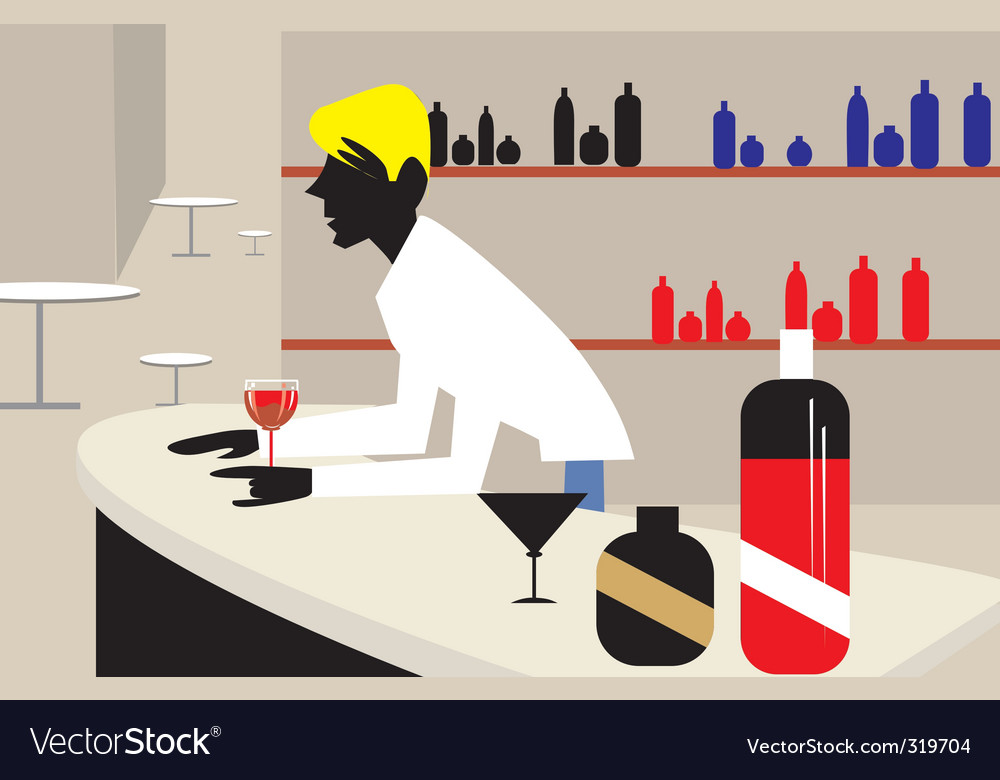 Man and bar