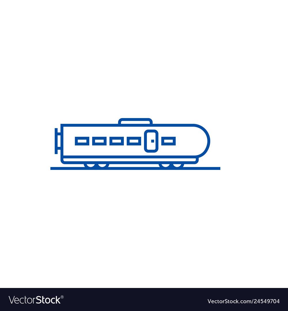 Modern train line icon concept modern train flat