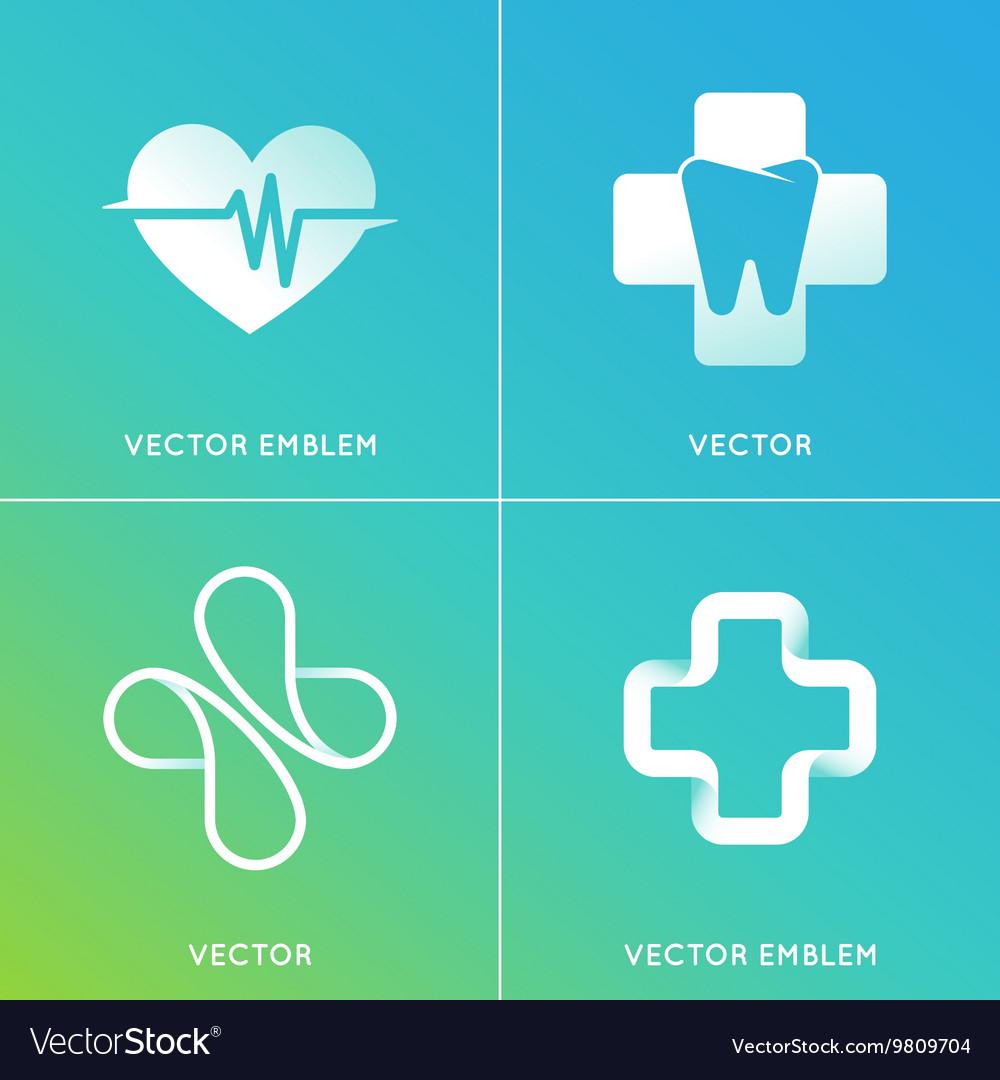 Set abstract logos and emblems - alternative