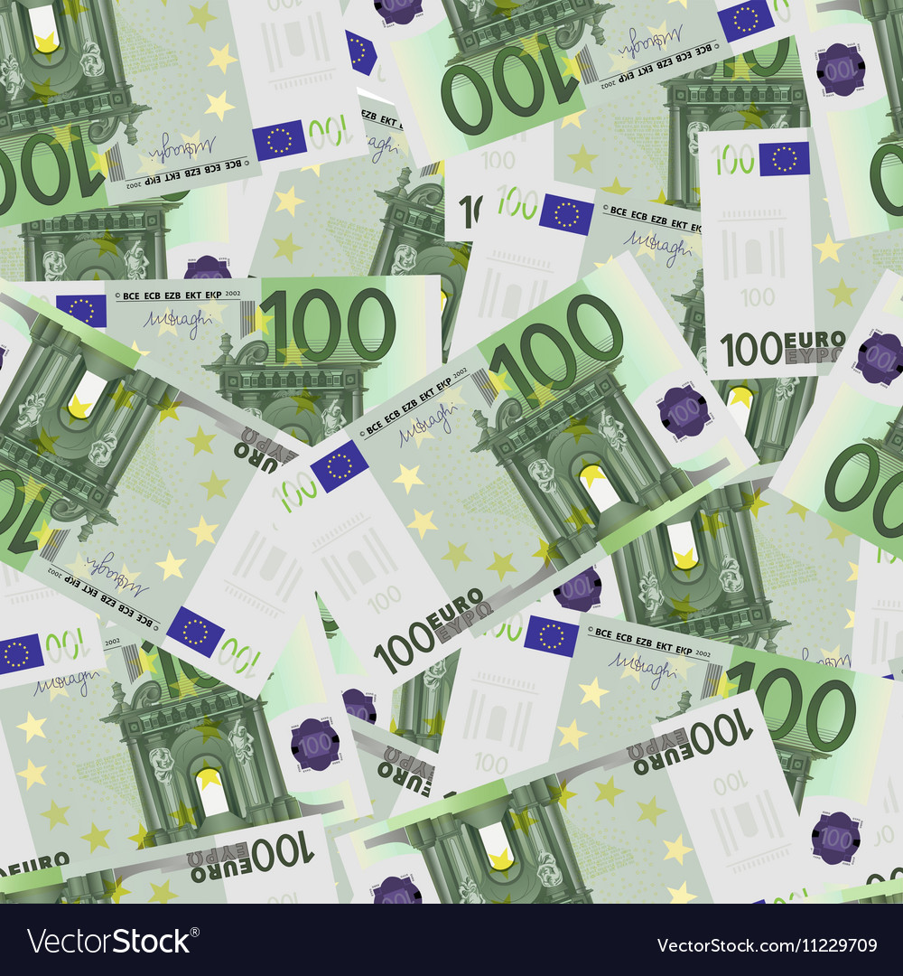 100 Euro bills seamless
