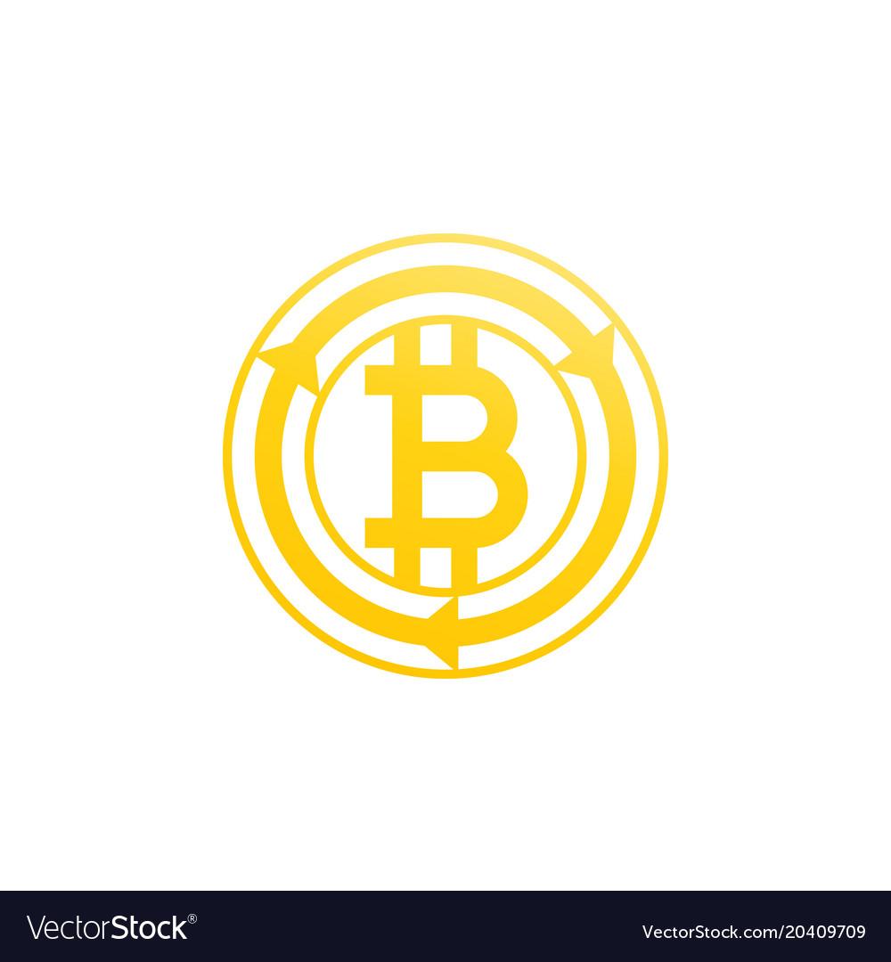 Bitcoin exchange icon on white