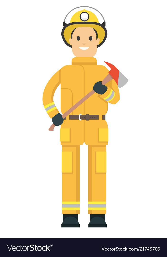 Fire fighter on duty