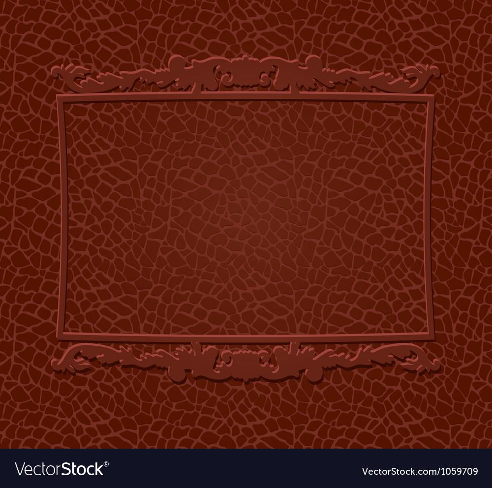 Frame on skin background vector image