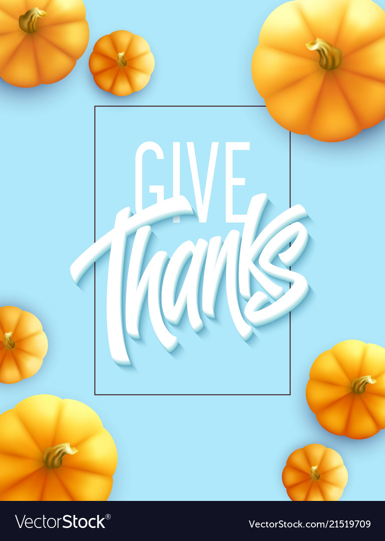 Happy Thanksgiving Greeting Card Holiday Vector Image