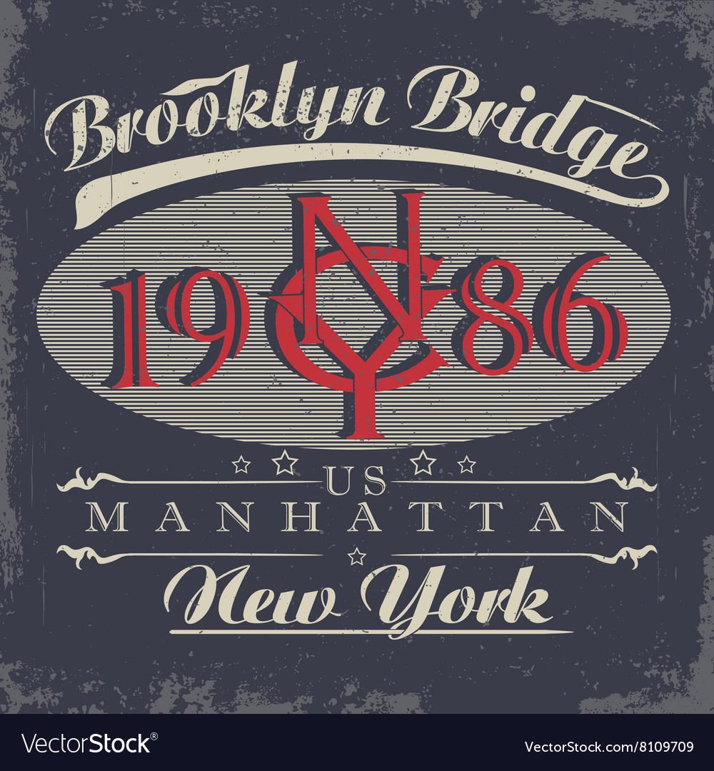 New York typography t-shirt graphics