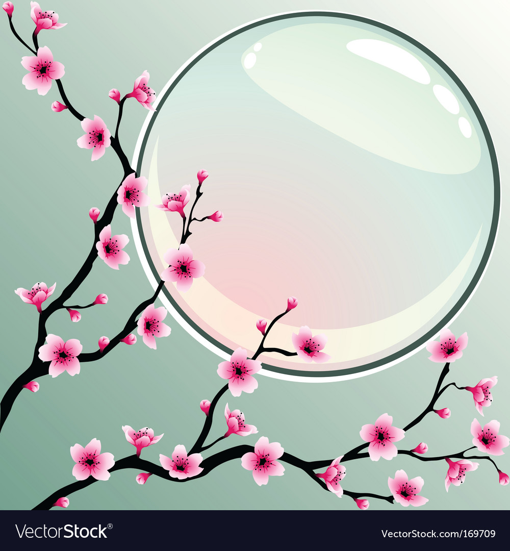 Pink blossoms vector image