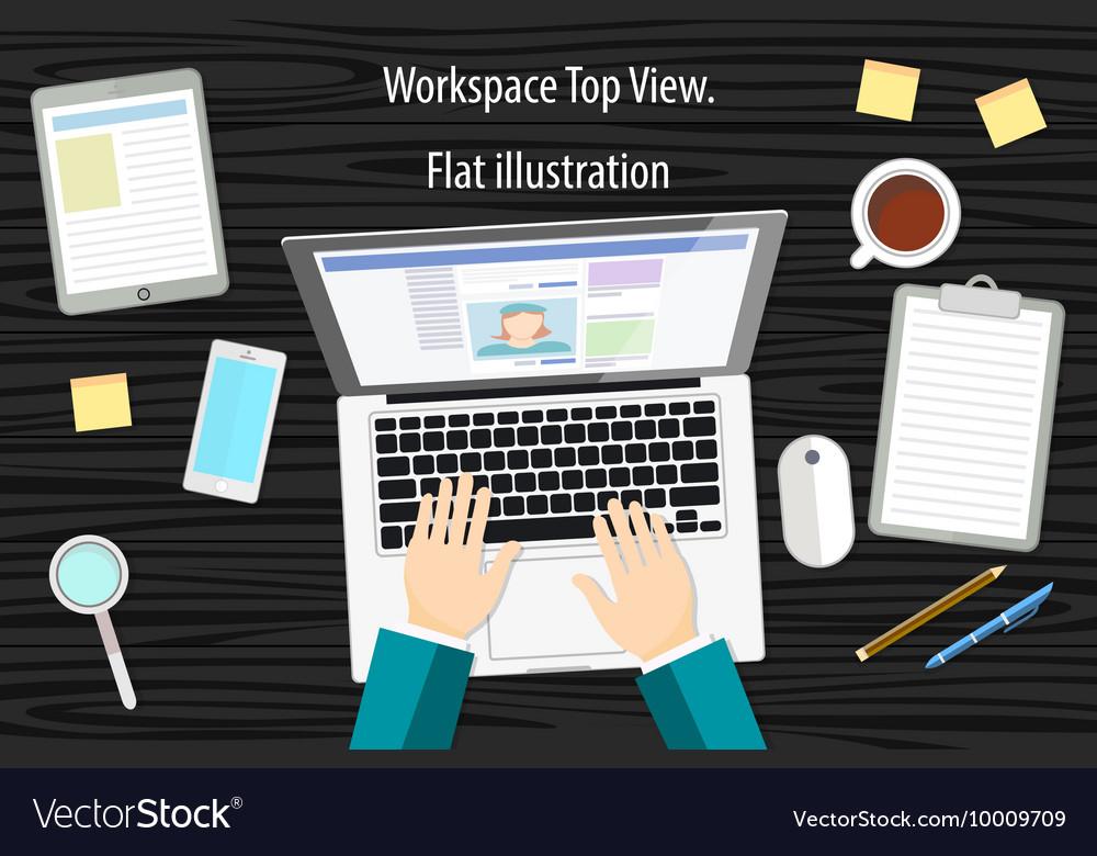 Professional creative graphic designer working at