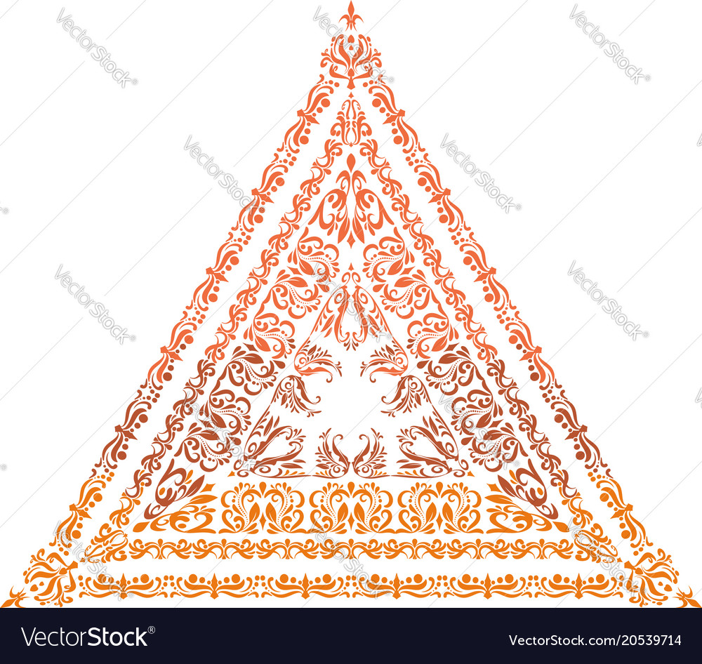 A triangle arabesque in indian style