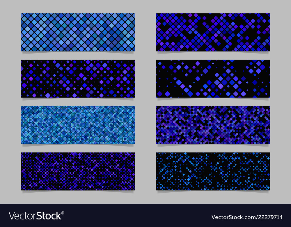 Abstract diagonal rounded square pattern banner