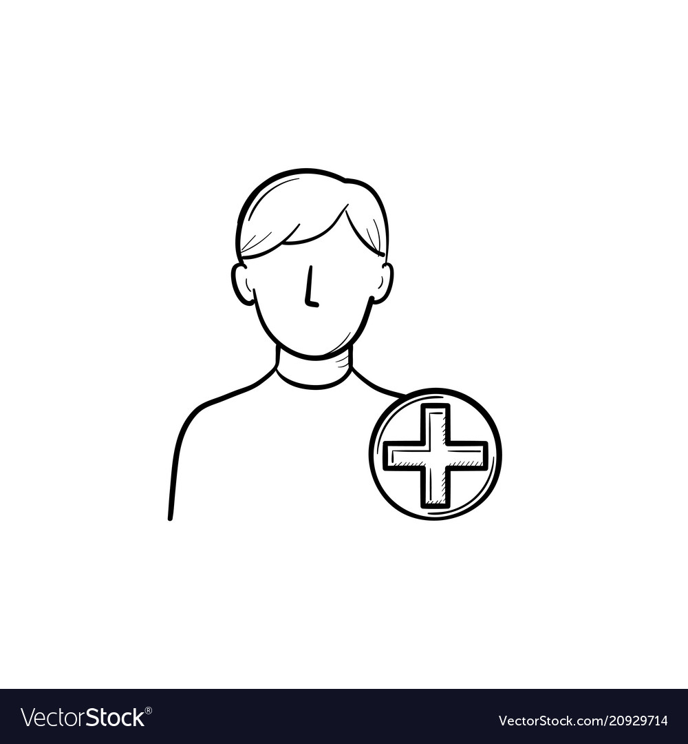 Add new user hand drawn outline doodle icon