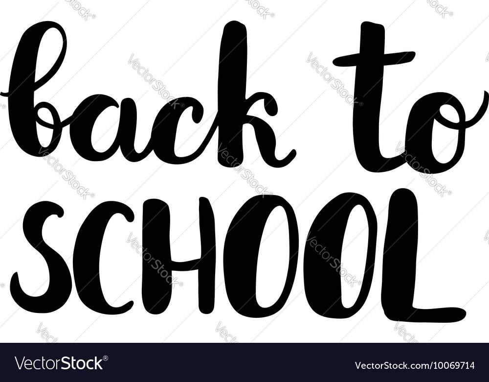 Back to school Brush lettering