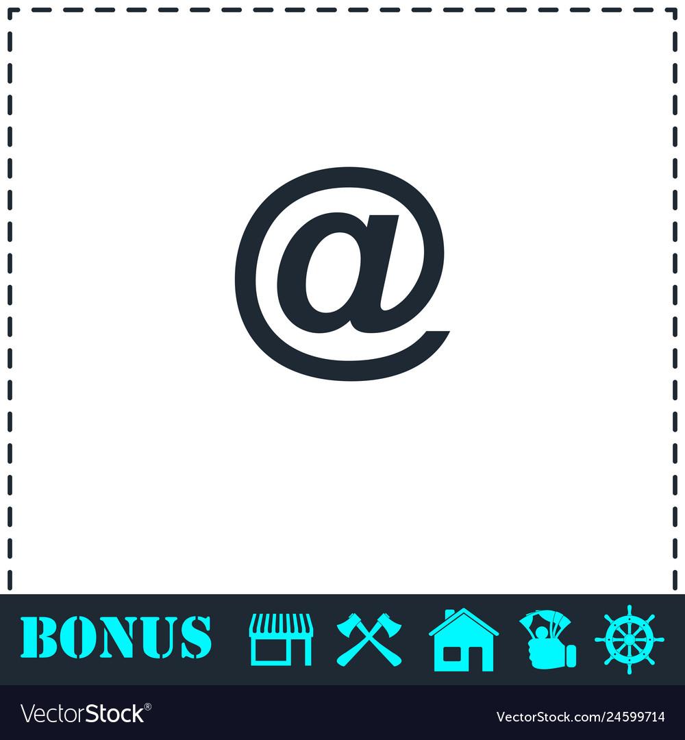 E-mail icon flat
