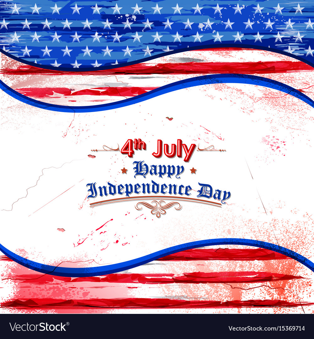 Fourth of july background for happy independence
