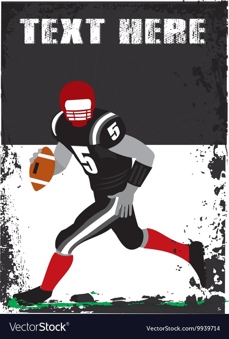 Grunge football player