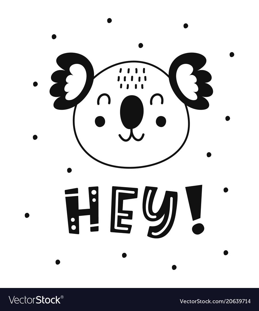 Scandinavian childish poster cute animal