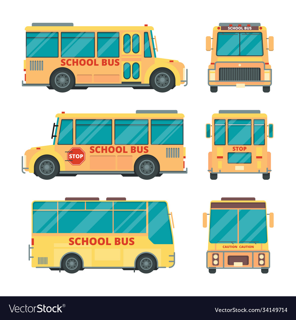 School bus city yellow vehicle for kids daily