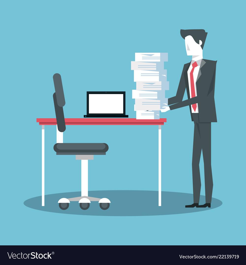 Businessman working avatar