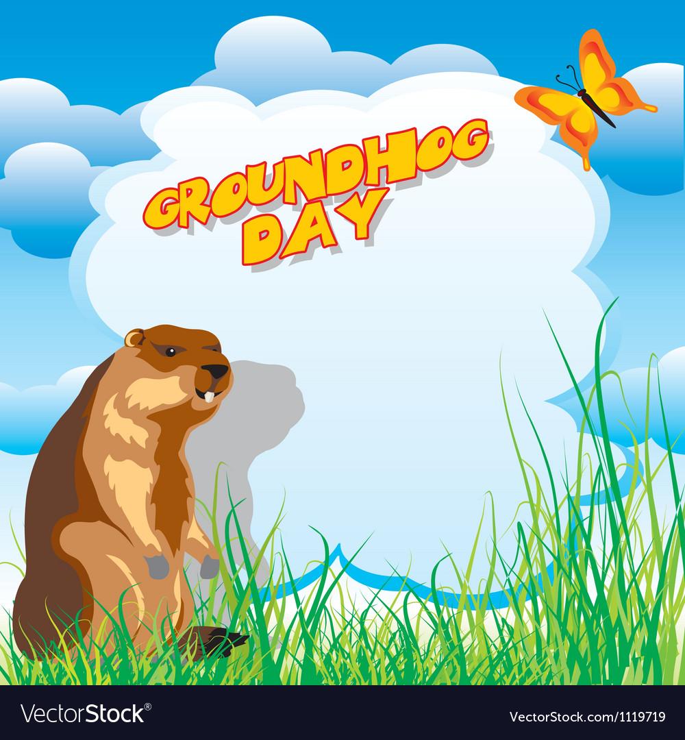 Groundhog day vector image