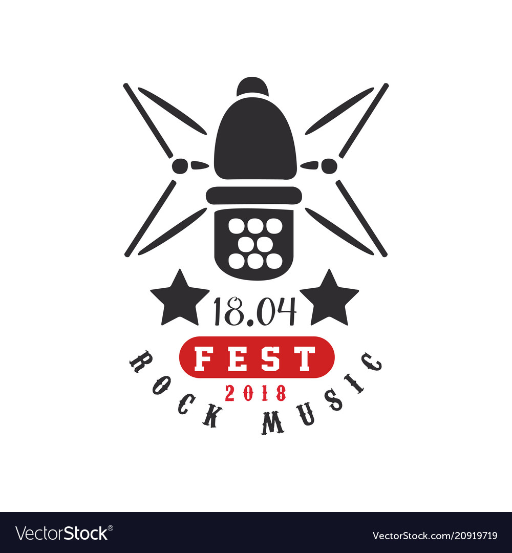 Rock music fest logo 1804 black and red