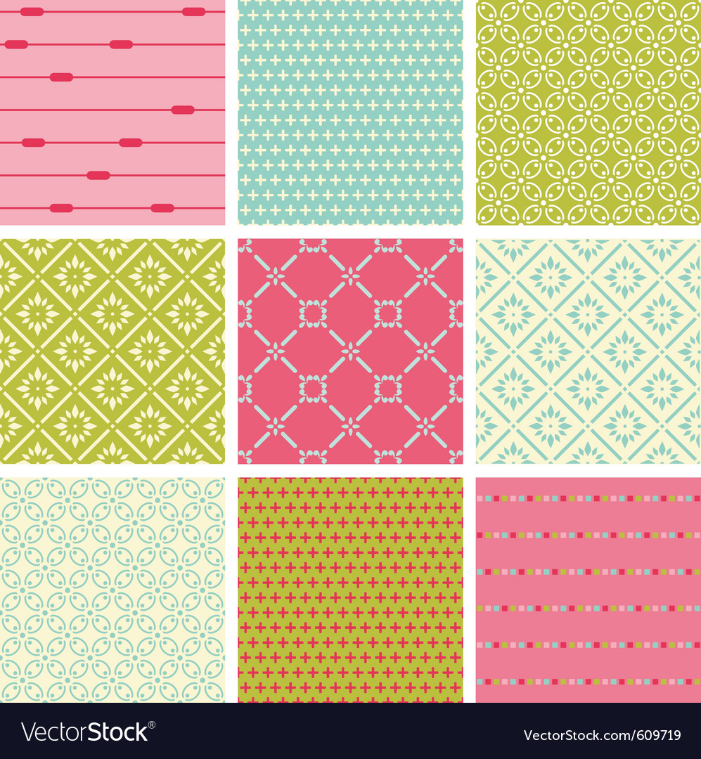 Seamless colorful backgrounds collection - vintage