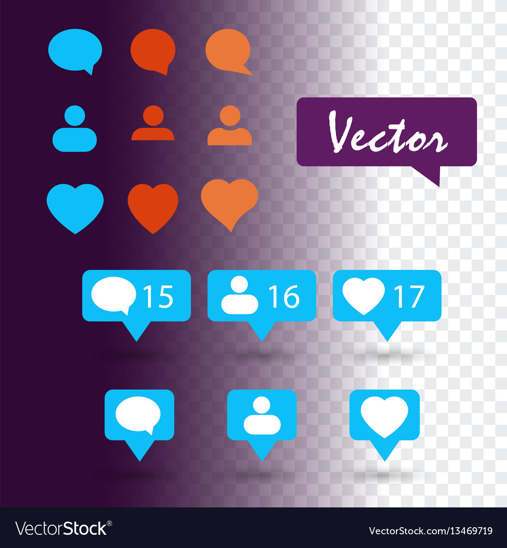 Set icon social network