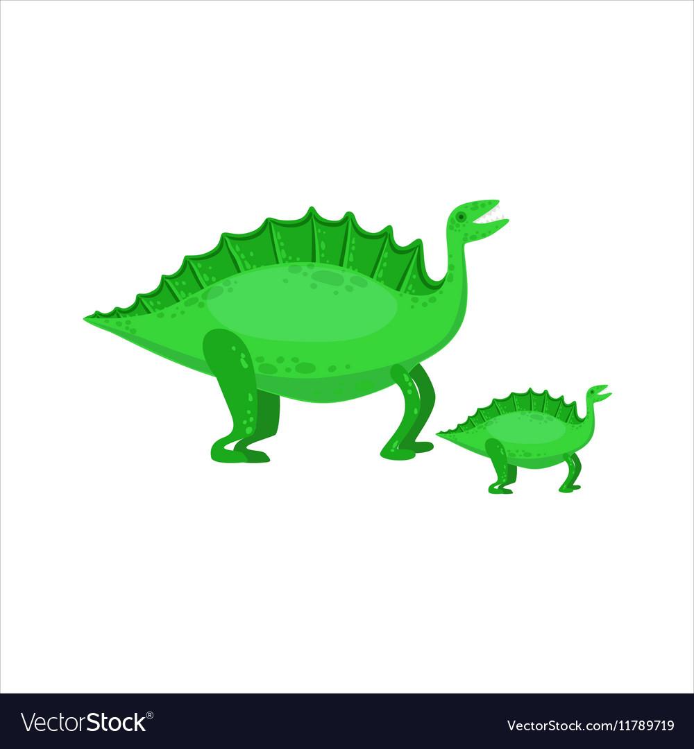 Stegosaurus Dinosaur Prehistoric Monster Couple Of vector image
