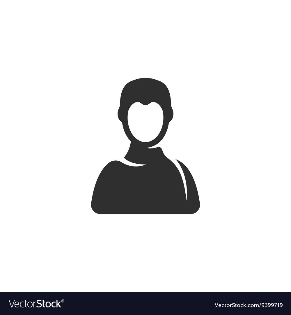 User Icon logo on white background vector image