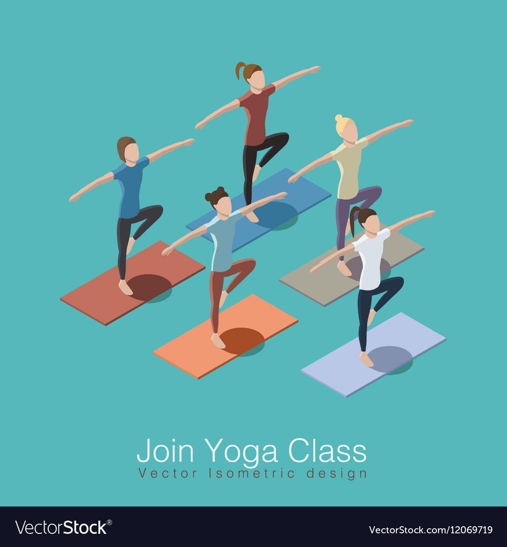 Yoga class scene