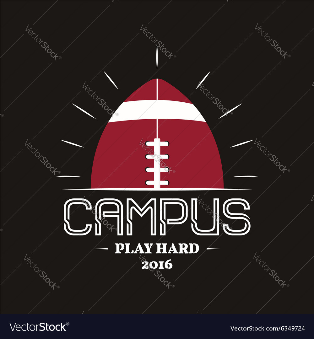 American football campus logotype emblem label