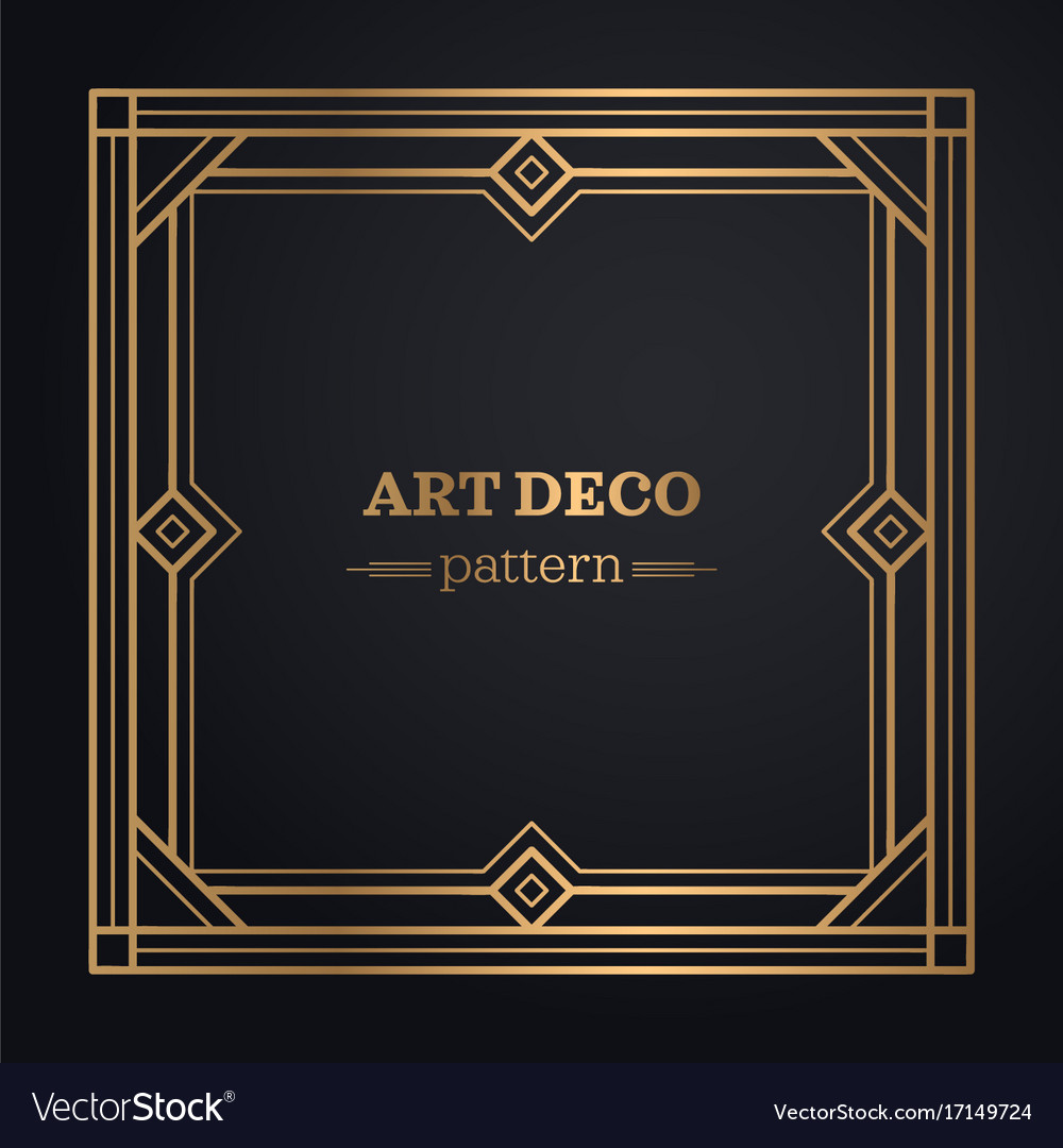 Art deco frame background Royalty Free Vector Image