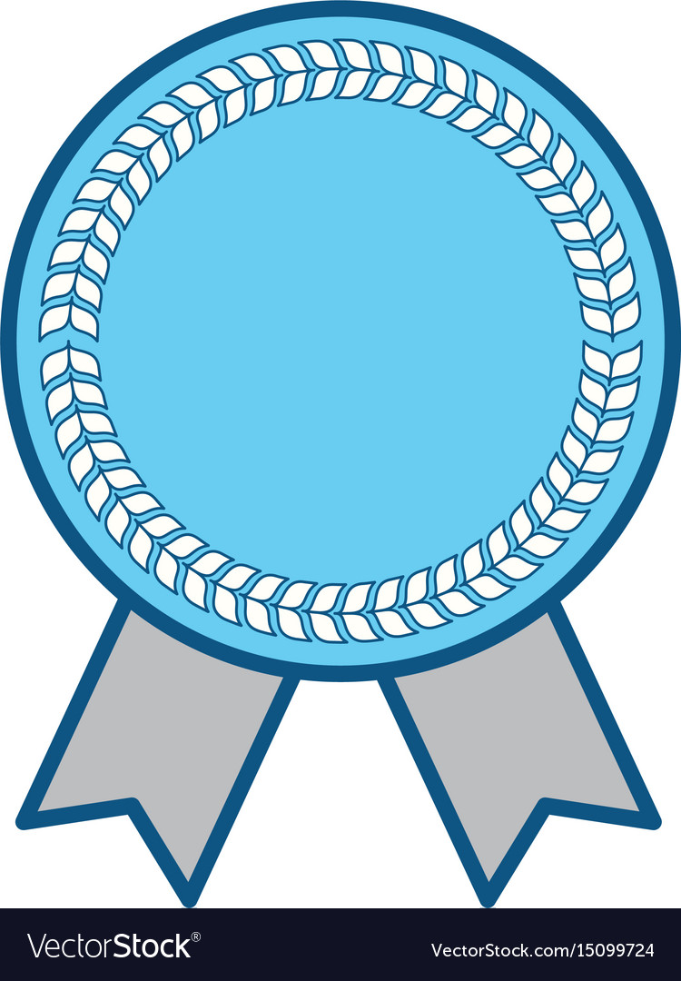 blank award ribbon royalty free vector image vectorstock