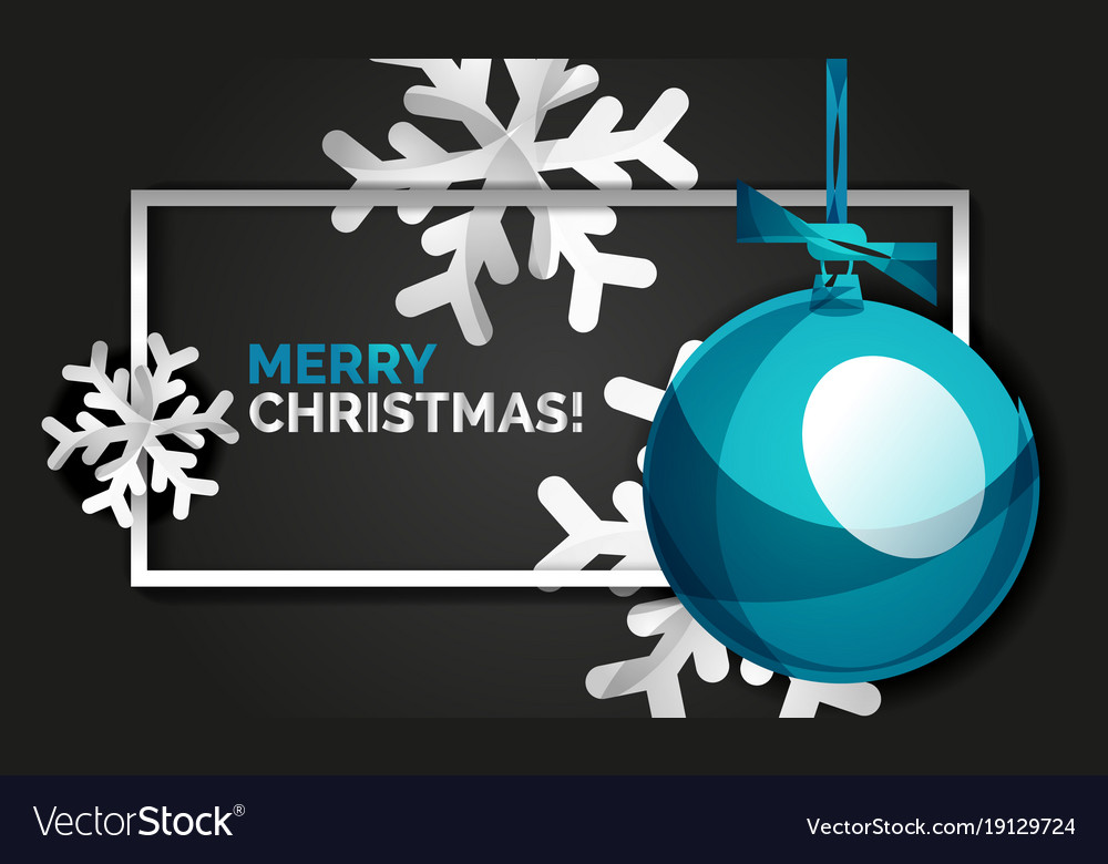 Christmas balls happy new year banner black