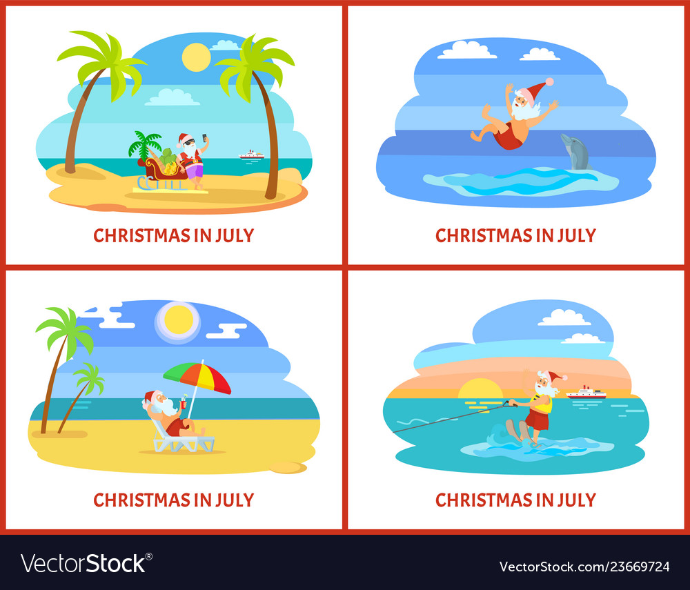 Christmas in july celebration of holiday in summer