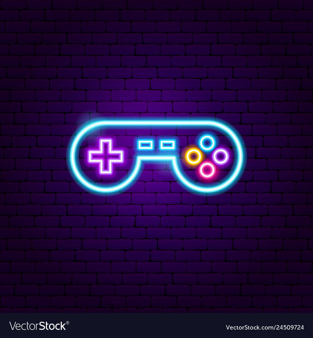 Play game neon sign