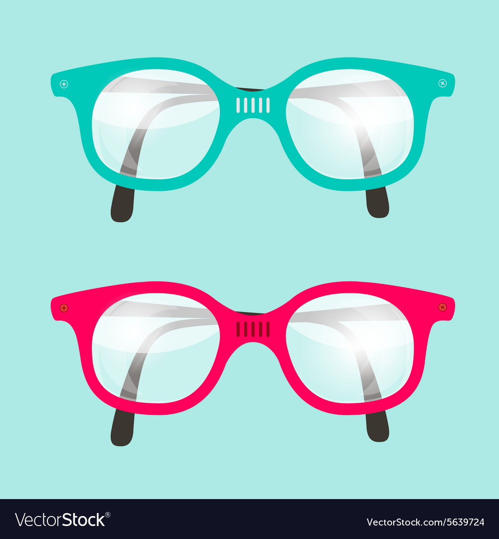 Retro Glasses Set