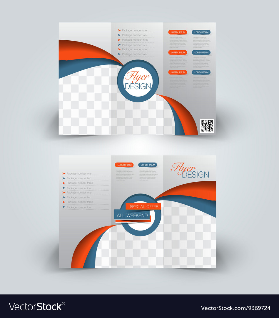 Trifold Brochure Design Template Royalty Free Vector Image