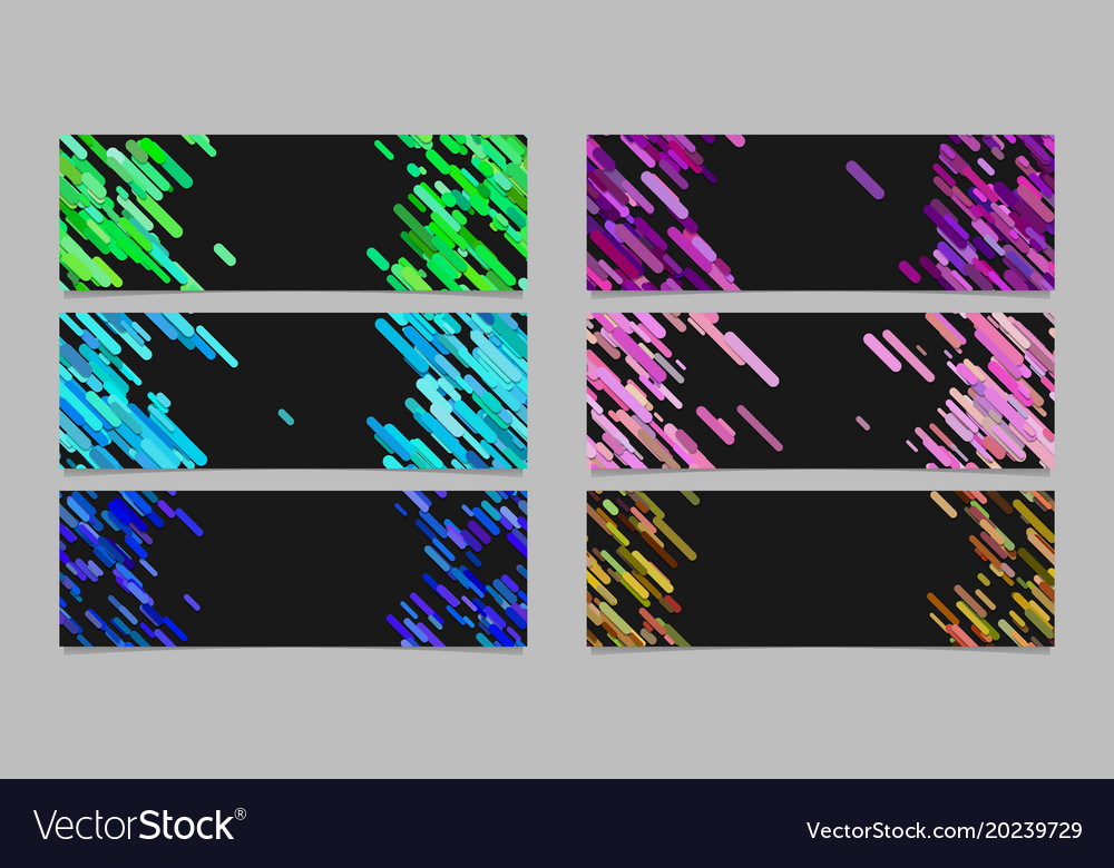 Abstract banner background template design set