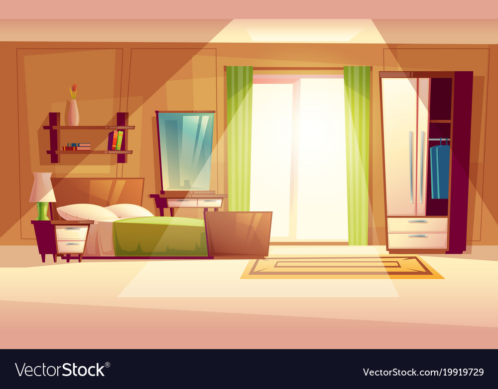 Bedroom Interior Royalty Free Vector Image