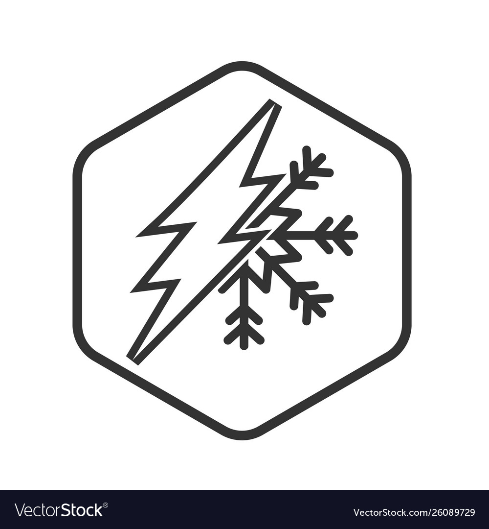 Electric current and air conditioning icon