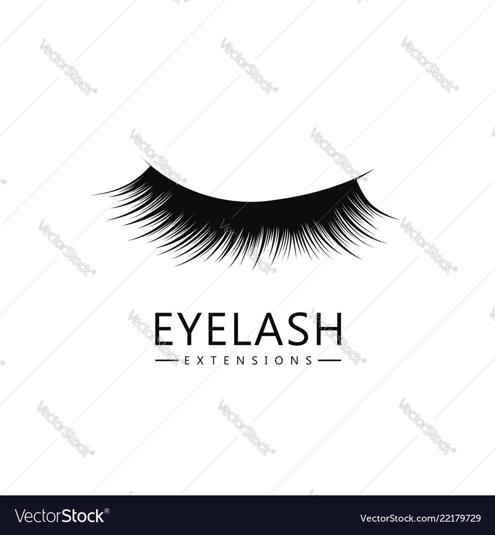 Eyelash logo template eyelash extension concept