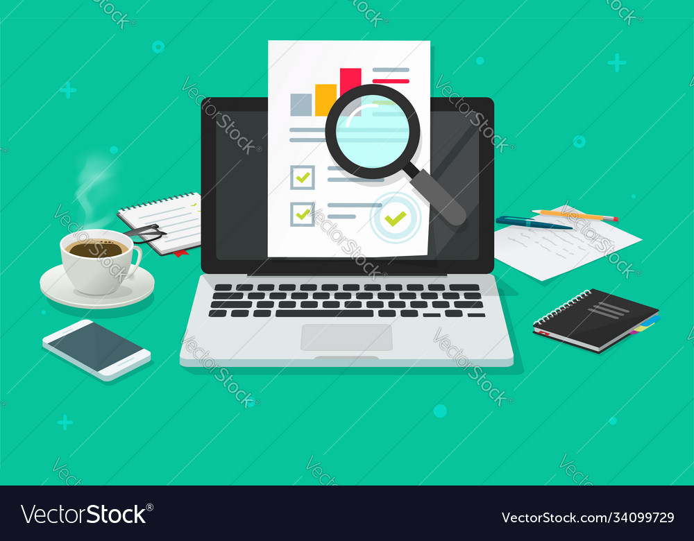 Financial audit research analysis sales data