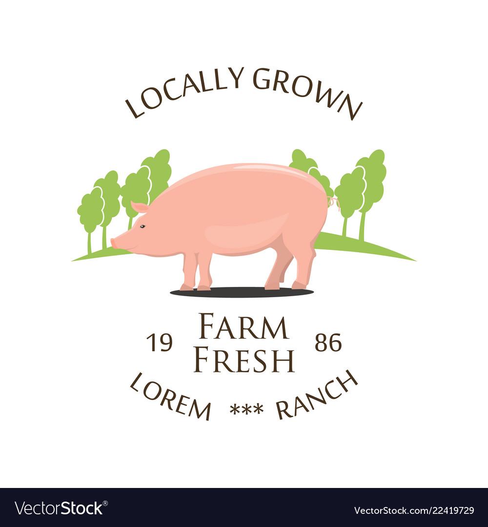 Fresh farm produce and logo
