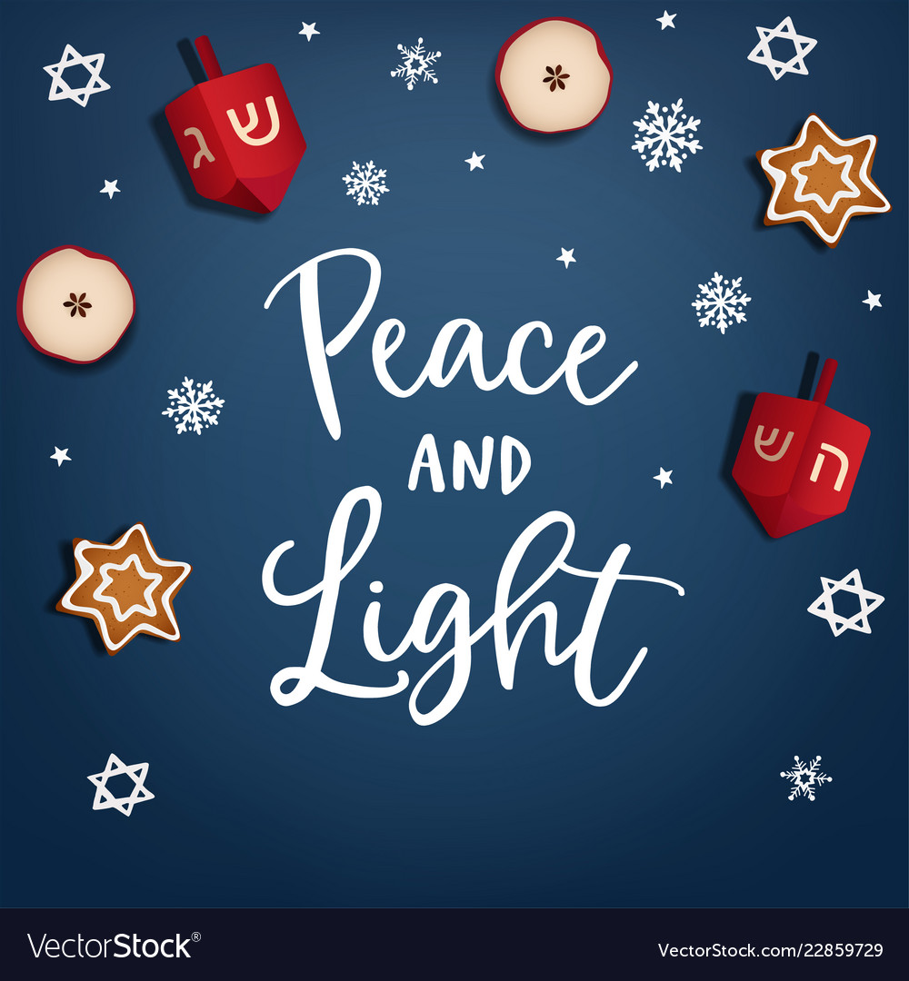 Hanukkah jewish festival of light greeting card