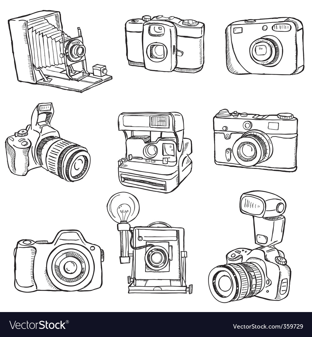 Set of photo cameras