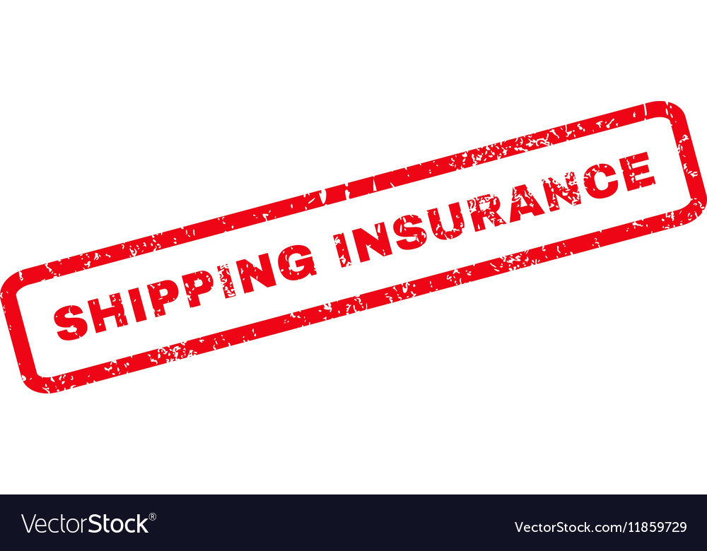 Shipping Insurance Rubber Stamp