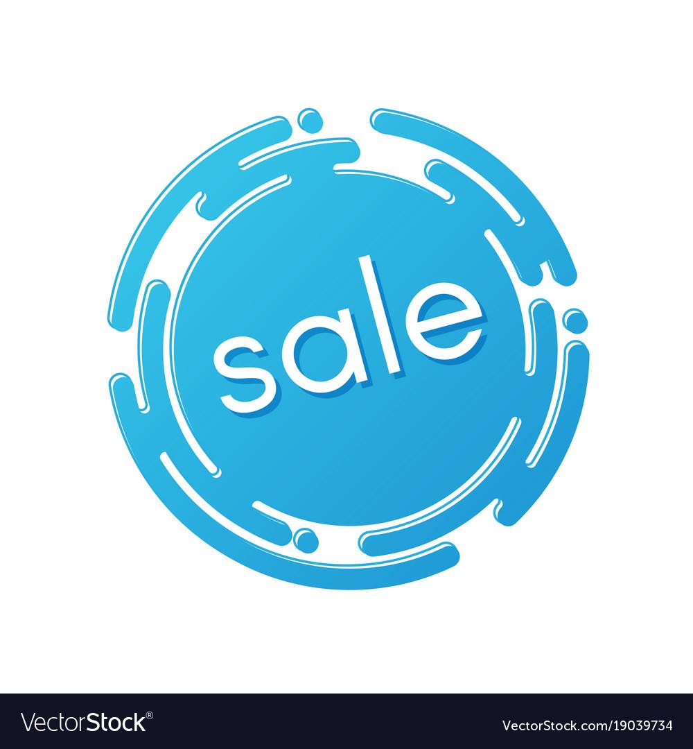 Creative sale discount or promotion label design